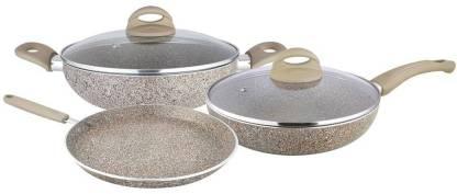 Shri & Sam Triplica Cookware Set of 4 Pieces Induction Bottom Cookware Set