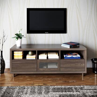 @home by Nilkamal Jett Engineered Wood TV Entertainment Unit  (Finish Color - Venus Brown)