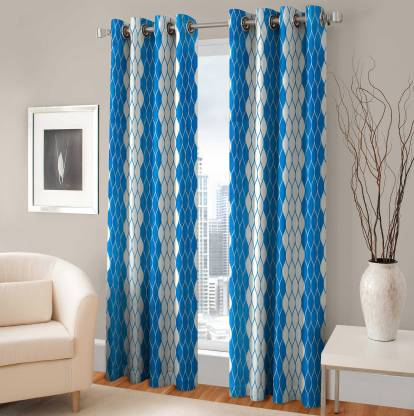 Rixon Global 152 cm (5 ft) Polyester Door Curtain (Pack Of 2)