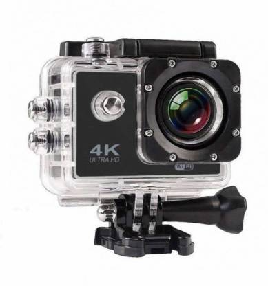 QUEZIL 1080 Ultra HD Water Resistant Sports Action Camera Ultra Wide-Angle Lens with 2 Inch Display & Full Accessories (16 MP) Sports and Action Camera