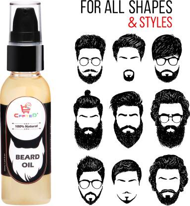 CFFTED Beard Oil With Natural Ingredients  100% Natural Beard Growth Oil - (Almond and Thyme) Hair Oil