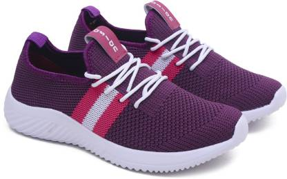 Asian Angel-04 Casual sneakers for ladies | sports shoes for women | Running shoes for girls stylish latest design new fashion | Lace up Lightweight purple shoes for jogging, walking, gym & party Running Shoes For Women
