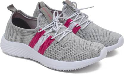 Asian Angel-04 Casual sneakers for ladies | sports shoes for women | Running shoes for girls stylish latest design new fashion | Lace up Lightweight grey shoes for jogging, walking, gym & party Running Shoes For Women