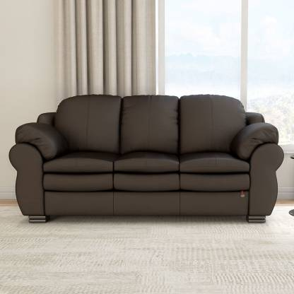 Durian Berry Leatherette 3 Seater  Sofa