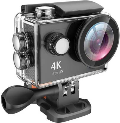 Duende 4K Wifi 4K Action Camera Wi-Fi 16MP Full HD 1080P Waterproof Cam with Remote Control with Sensor Waterproof up to 30m 2.0'' LCD 170° Ultra Wide-Angle with Kit of Accessories Sports and Action Camera