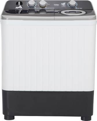 Haier 7 kg Semi Automatic Top Load Black, White