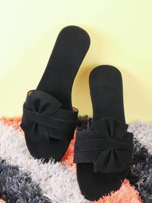 PKKART Casual Butterfly Tie Women Black Flats