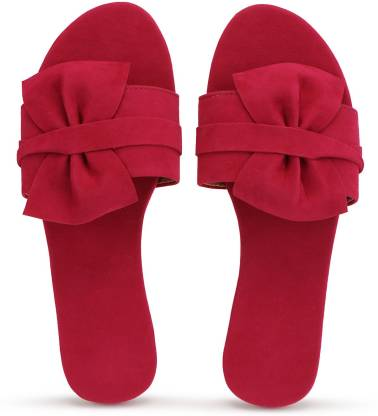 PKKART Casual Butterfly Tie Women Pink Flats