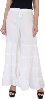 Balkhandi Slim Fit Women White Trousers