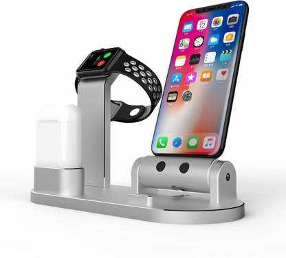 House Of Sensation 3 In 1 Aluminum Alloy Charging Dock Station Phone Holder For AirPods Apple Watch Series Charging Pad