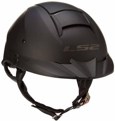 LS2 Helmets Rebellion Unisex-Adult Half Helmet Motorcycle Helmet (Matte Black, XX-Lar Motorbike Helmet