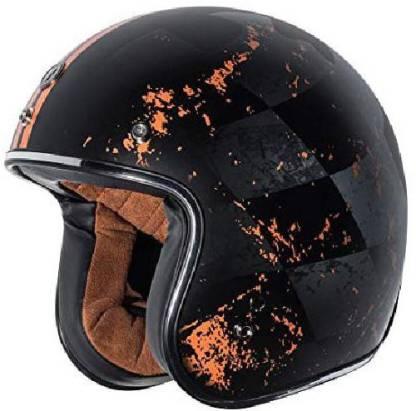 Torc T50 Route 66 Finale Open Face Helmet (Flat Black, X-Small) [CAT_6484] Motorbike Helmet
