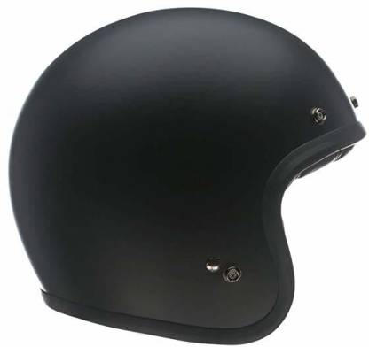 Bell Custom 500 Unisex-Adult Open face Street Helmet (Solid Matte Black, X-Small) Motorbike Helmet