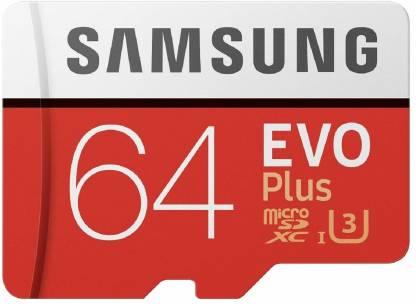 SAMSUNG Original EVO Class 10 64 GB SD Card Class 10 100 MB/s  Memory Card
