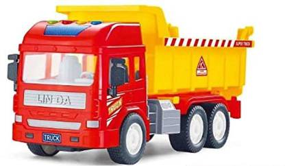 heet Unbreakable Dumper Construction Truck, Friction Power Toy Trucks for 3+ Years Old Boys and Girls, Light & Sound Toy for Kids.