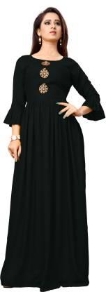 Women Gown Black Dress