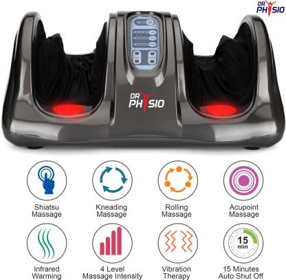 DR PHYSIO (USA) 1024 Body Pains Relief Massager Machine Massage Machine Powerful Electric Massagers Foot Calf With Heat Vibration For Men and Women Relaxation Massager