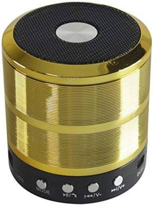 hitvill ws-887 Bluetooth Speaker High Quality Sound Deep Bass ( Gold ) 4 W Bluetooth Speaker