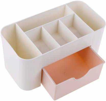 shivay Desktop Drawer Type Storage Box Cosmetic Plastic Household Multifunctional Jewelry Office Desk MAKEUP, JWELLERY Vanity Box Organizer Vanity Box MAKEUP Vanity Box