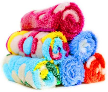 "kiyo Women's Cotton Extra Soft towel Hanky (Multicolour, 25 x 25 cm) - Pack of 6 [""Multicolor""] Handkerchief"