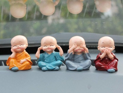Fengshui 4 Little Cute Hat baby monk buddha showpiece