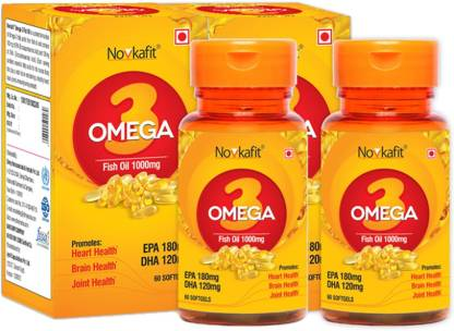 Novkafit Omega-3 Fish Oil 1000 Mg – 120 Softgel Capsules