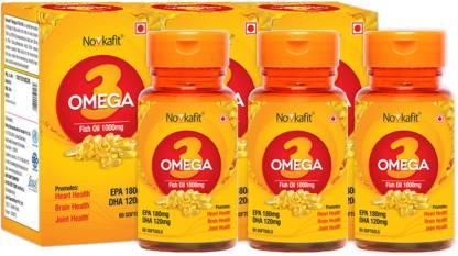 Novkafit Omega-3 Fish Oil 1000 Mg – 180 Softgel Capsules