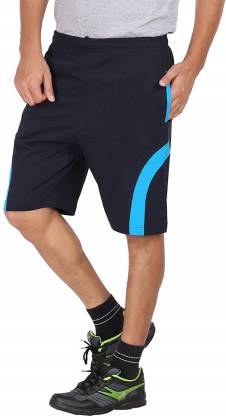 FastColors Solid Men Light Blue Sports Shorts