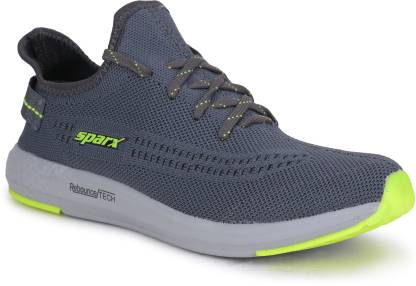 Sparx Men SM-482 Dark Grey Neon Green Running Shoes For Men