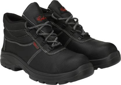 Ramer High Steel Toe Genuine Leather Safety Shoe  (Black, S1)