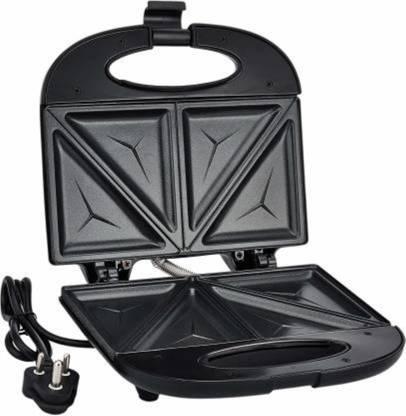 Prestige PSMFB 800 Watt Sandwich Toaster with Fixed Plates, Black Open Grill (Black) Open Grill