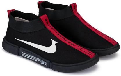Clymb Clymb Men's Blast Black Red Walking Running Gym Sports Shoes Running Shoes For Men
