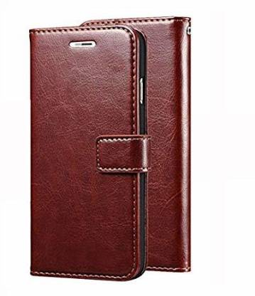 Creativo Flip Cover for Samsung Galaxy J2 Pure Leather Premium Vintage Look with Media Viewing Stand