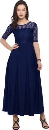 Sheetal Associates Women Maxi Blue Dress