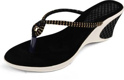 FASHIMO Women Black Wedges