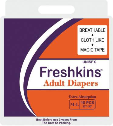 FRESHKINS Breathable Type Taped Adult Diapers - M - L
