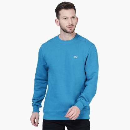 Wildcraft Full Sleeve Solid Men Sweatshirt