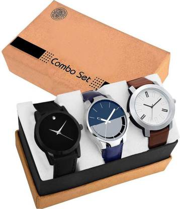 CAMERON 1692-Best Look 3 Pic Laether Belt Analog Watch For Men Combo For-Men Analog Watch - For Men