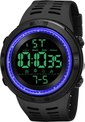 1252-BK BL BLACK Digital Blue Black Army Sports Digital Watch - For Men
