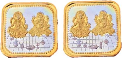 LVA CREATIONS  20 gm/GRAM x 2 Silver Coins = 40 gram 999 bis hallmarked Laxmi/lakshmi ganesh for (Combo of 2) 40 gm for gift in happy birthday & wedding anniversary.Festive gift for Dhanteras diwali. S 999 40 g Silver Bar  (Pack of 2)