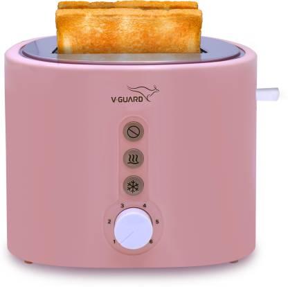 V-Guard VT220 800 W Pop Up Toaster(Pink)
