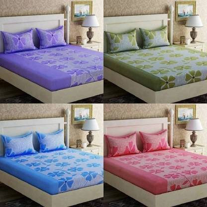 BELLAGENCE 140 TC Polycotton Double 3D Printed Bedsheet
