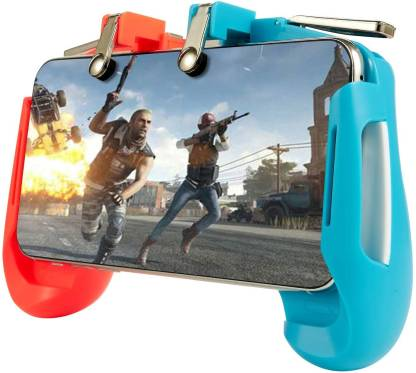 techobucks PUBG Mobile Game Controller AK16 Gamepad Joystick Stretchable Games L1R1 Trigger Fire Button Gamepad for iOS Android Smartphone  Gaming Accessory Kit