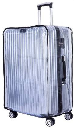 HANDCUFFS 28 Cover PVC Waterproof 28'' Protective Covers for Luggage Trolley (Transparent) Luggage Cover