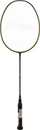 Li Ning Full Carbon Graphite Lightweight Strung Badminton Racquet, S2 Purple, Green Strung Badminton Racquet