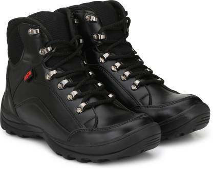 MANSLAM MSL26-Black Steel Toe Synthetic Leather Safety Shoe  (Black, S1)