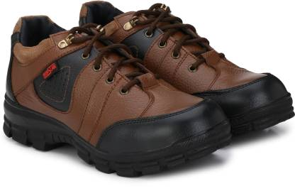 MANSLAM MSL43-Tan Steel Toe Genuine Leather Safety Shoe  (Tan, S1)
