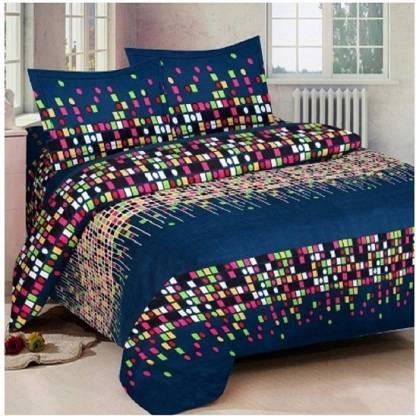 neet enterprises 140 TC Cotton Double Geometric Bedsheet