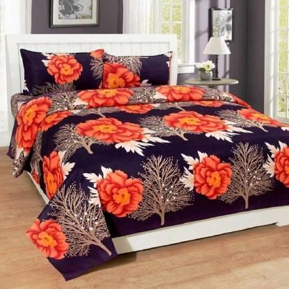 neet enterprises 140 TC Cotton Double Floral Bedsheet