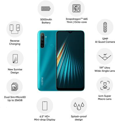 Realme 5i (Aqua Blue, 64 GB) (4 GB RAM)